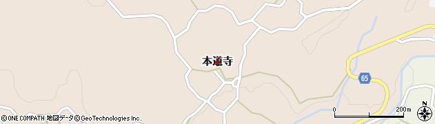 福岡県筑紫野市本道寺周辺の地図