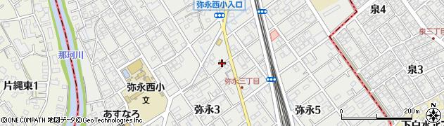 福岡県福岡市南区弥永周辺の地図