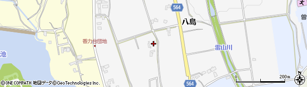 福岡県糸島市八島周辺の地図