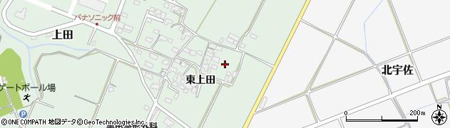 大分県宇佐市上田(東上田)周辺の地図