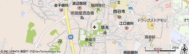 西本願寺四日市別院周辺の地図