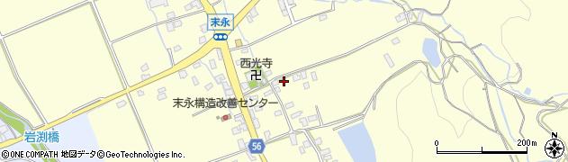 福岡県糸島市末永周辺の地図