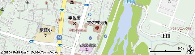 大分県宇佐市周辺の地図