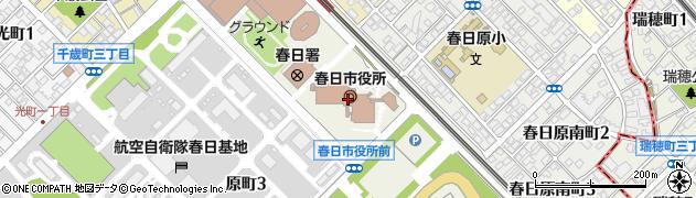 福岡県春日市周辺の地図
