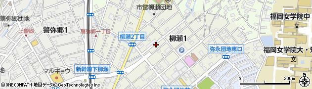 福岡県福岡市南区柳瀬周辺の地図