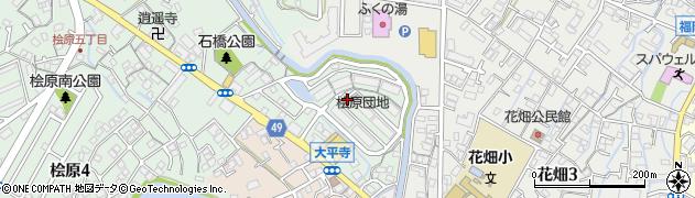 桧原住宅周辺の地図