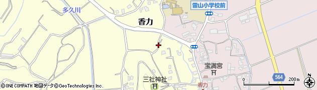 福岡県糸島市香力周辺の地図