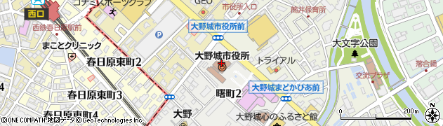 福岡県大野城市周辺の地図