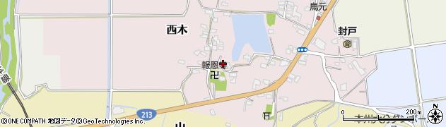 大分県宇佐市西木周辺の地図