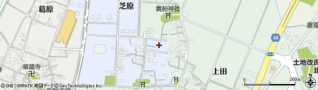 大分県宇佐市芝原周辺の地図