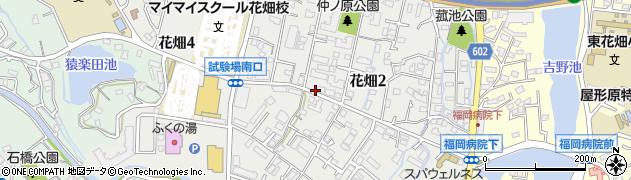 福岡県福岡市南区花畑周辺の地図