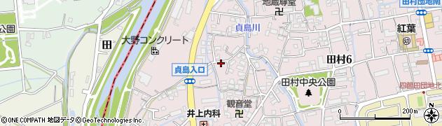 福岡県福岡市早良区田周辺の地図