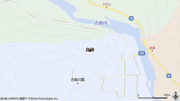 〒649-4224 和歌山県東牟婁郡古座川町高瀬の地図