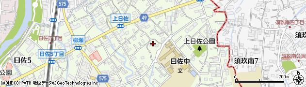 福岡県福岡市南区曰佐周辺の地図