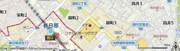 福岡県大野城市錦町周辺の地図