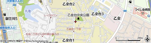 福岡県大野城市乙金台周辺の地図