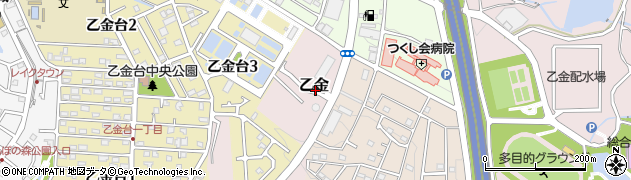 福岡県大野城市乙金周辺の地図