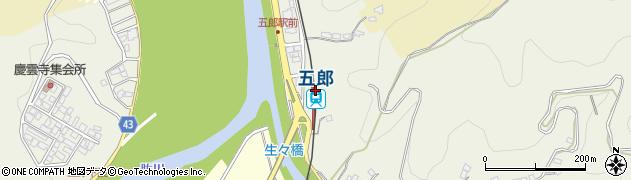 愛媛県大洲市周辺の地図