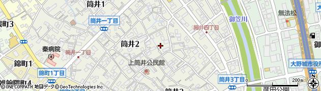 福岡県大野城市筒井周辺の地図