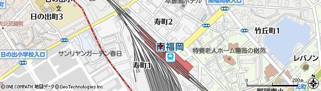 福岡県福岡市博多区寿町周辺の地図