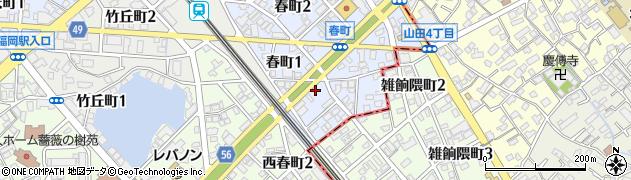 株式会社アサノ大成基礎エンジニアリング九州支社周辺の地図