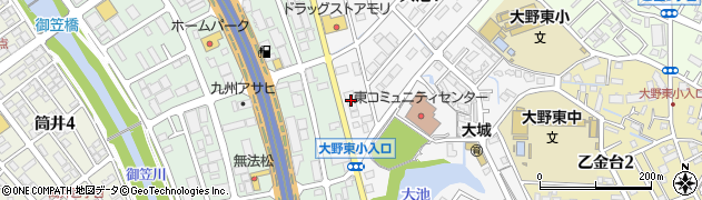 株式会社共立福岡営業所周辺の地図