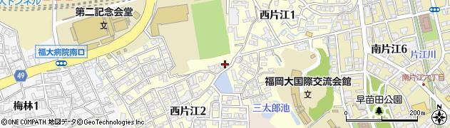 福岡県福岡市城南区西片江周辺の地図