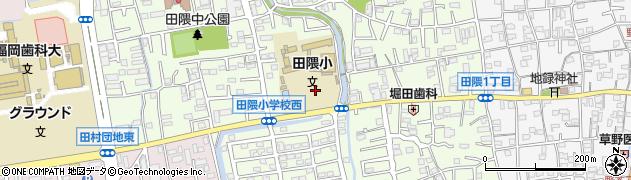福岡県福岡市早良区田隈周辺の地図