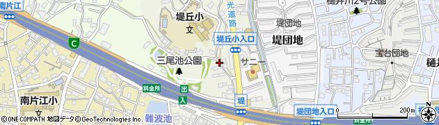 福岡県福岡市城南区堤周辺の地図
