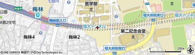 都市高速福大トンネル周辺の地図