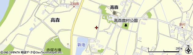 大分県宇佐市高森周辺の地図