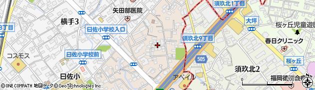 福岡県福岡市南区横手南町周辺の地図