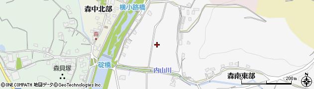 大分県豊後高田市森南東部周辺の地図