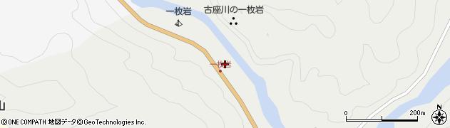道の駅一枚岩周辺の地図
