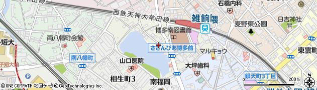 福岡県福岡市博多区南本町周辺の地図