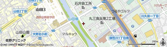 九州アサノ生コンクリート工業株式会社 福岡工場周辺の地図