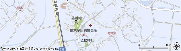 大分県宇佐市蜷木周辺の地図