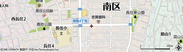 福岡県福岡市南区長住周辺の地図