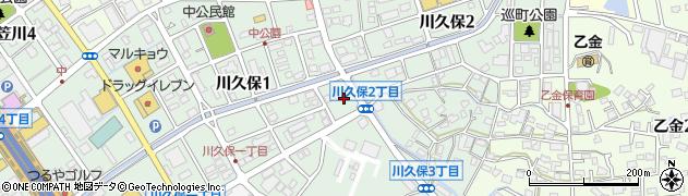 福岡県大野城市川久保周辺の地図