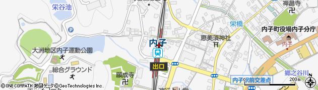 愛媛県喜多郡内子町周辺の地図
