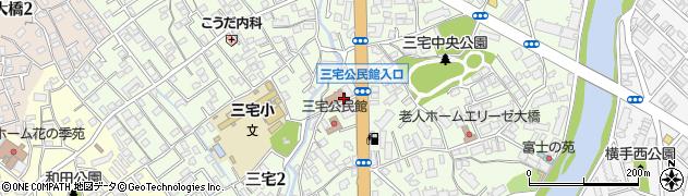 福岡県福岡市南区三宅周辺の地図