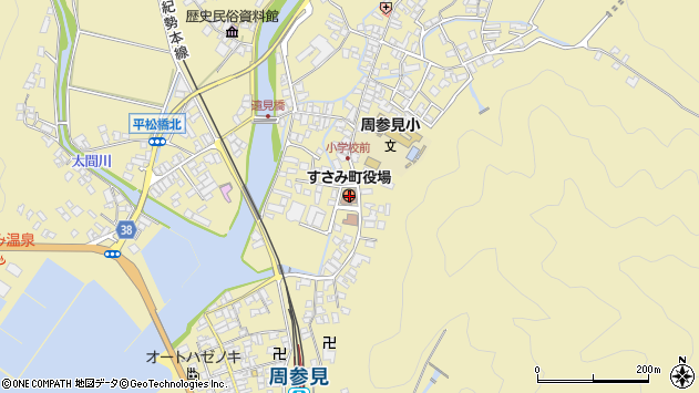 〒649-2600 和歌山県西牟婁郡すさみ町(以下に掲載がない場合)の地図