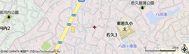 福岡県福岡市南区若久周辺の地図