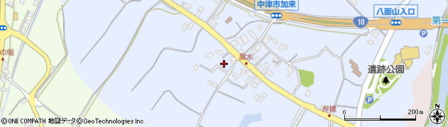 大分県中津市加来1972周辺の地図