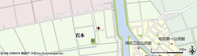 福岡県糸島市岩本周辺の地図