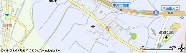 大分県中津市加来1973周辺の地図
