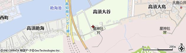 高知県高知市高須大谷周辺の地図