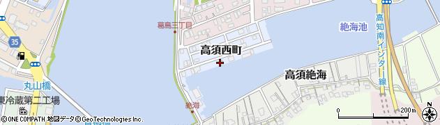 高知県高知市高須西町周辺の地図