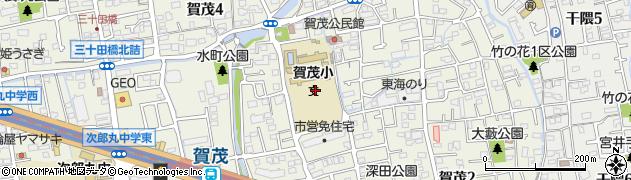福岡県福岡市早良区賀茂周辺の地図