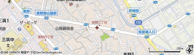 福岡県福岡市博多区麦野周辺の地図
